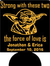 Yoda Wedding Koozie star wars sayings