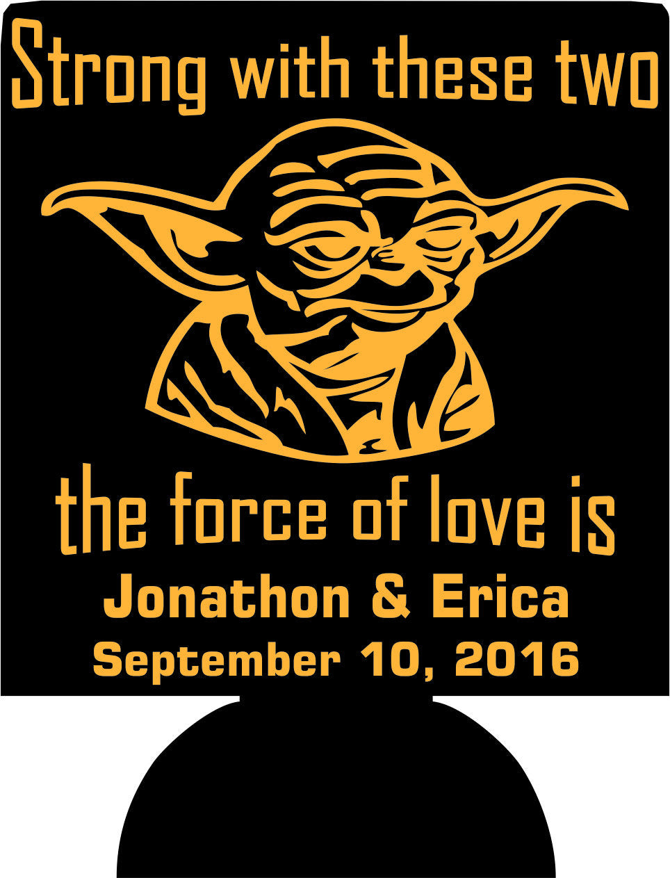Yoda wedding coozies