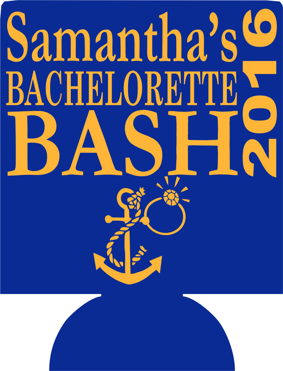 Nautical Bachelorette Bash Koozies