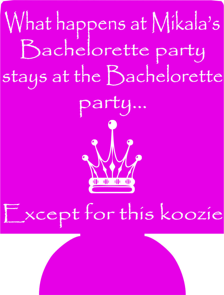what happens stays at the beachelorette party Koozies