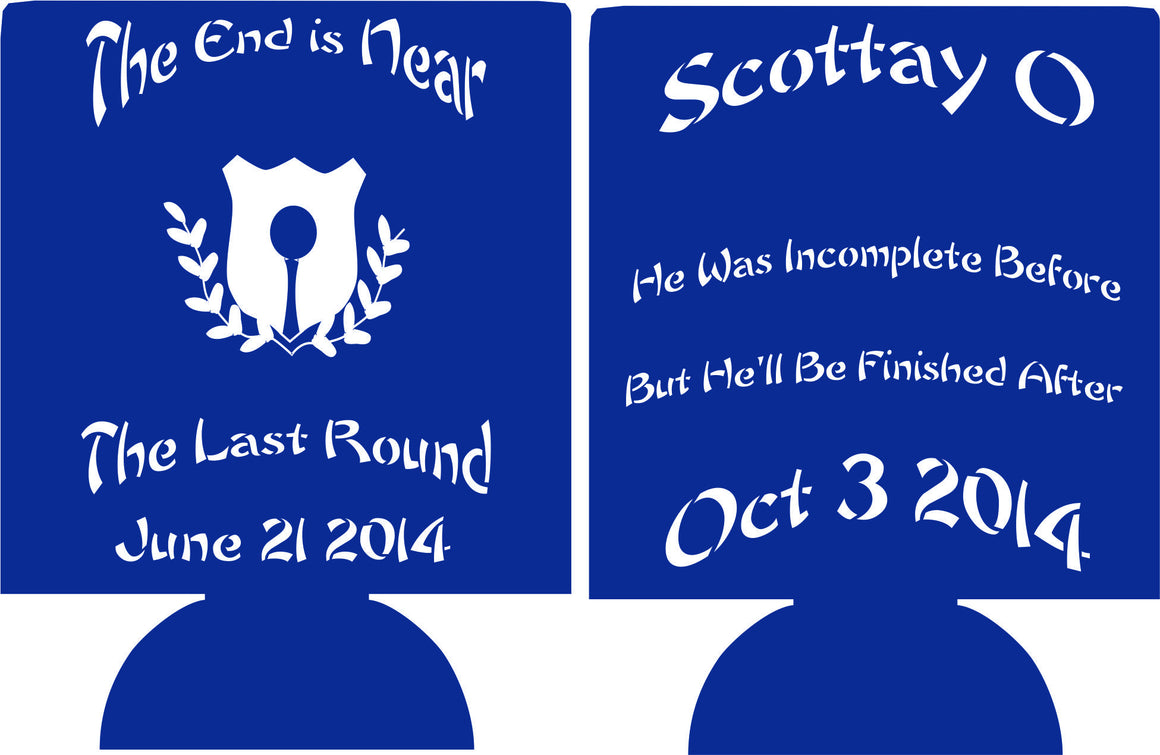 The Last Round Golf Bachelor koozie Party