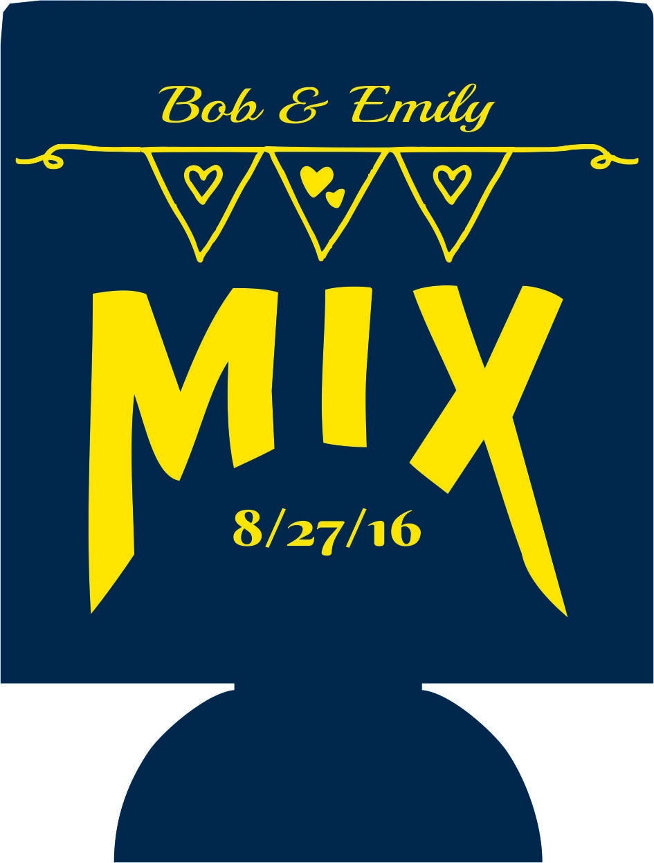 Mix wedding koozies