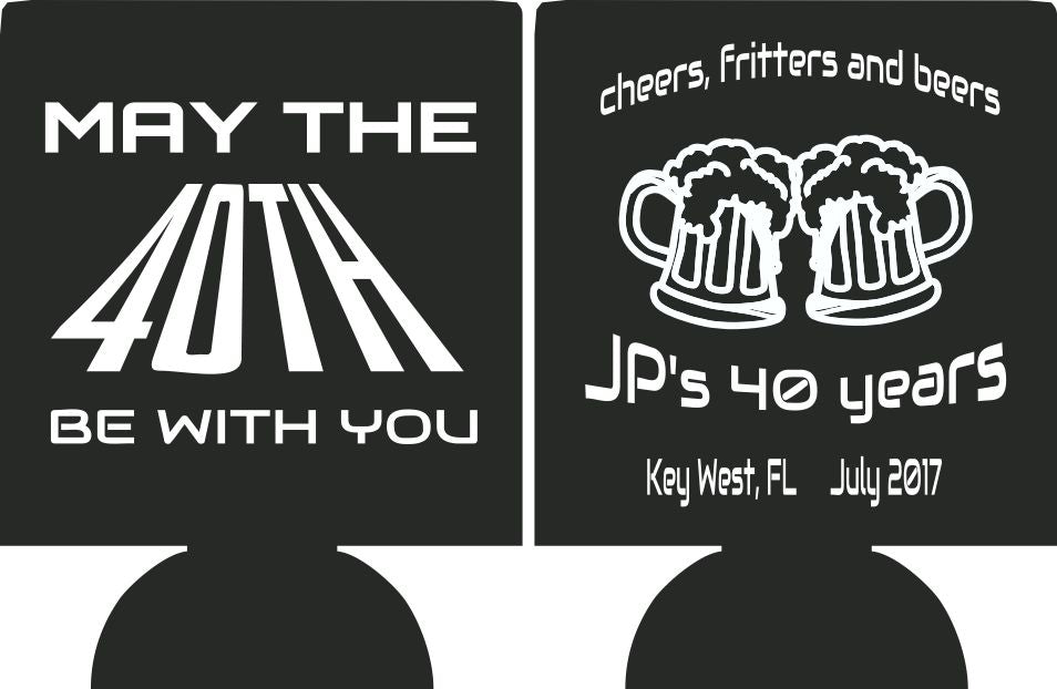 May the 40th be with you funny Birthday party favors can coolers