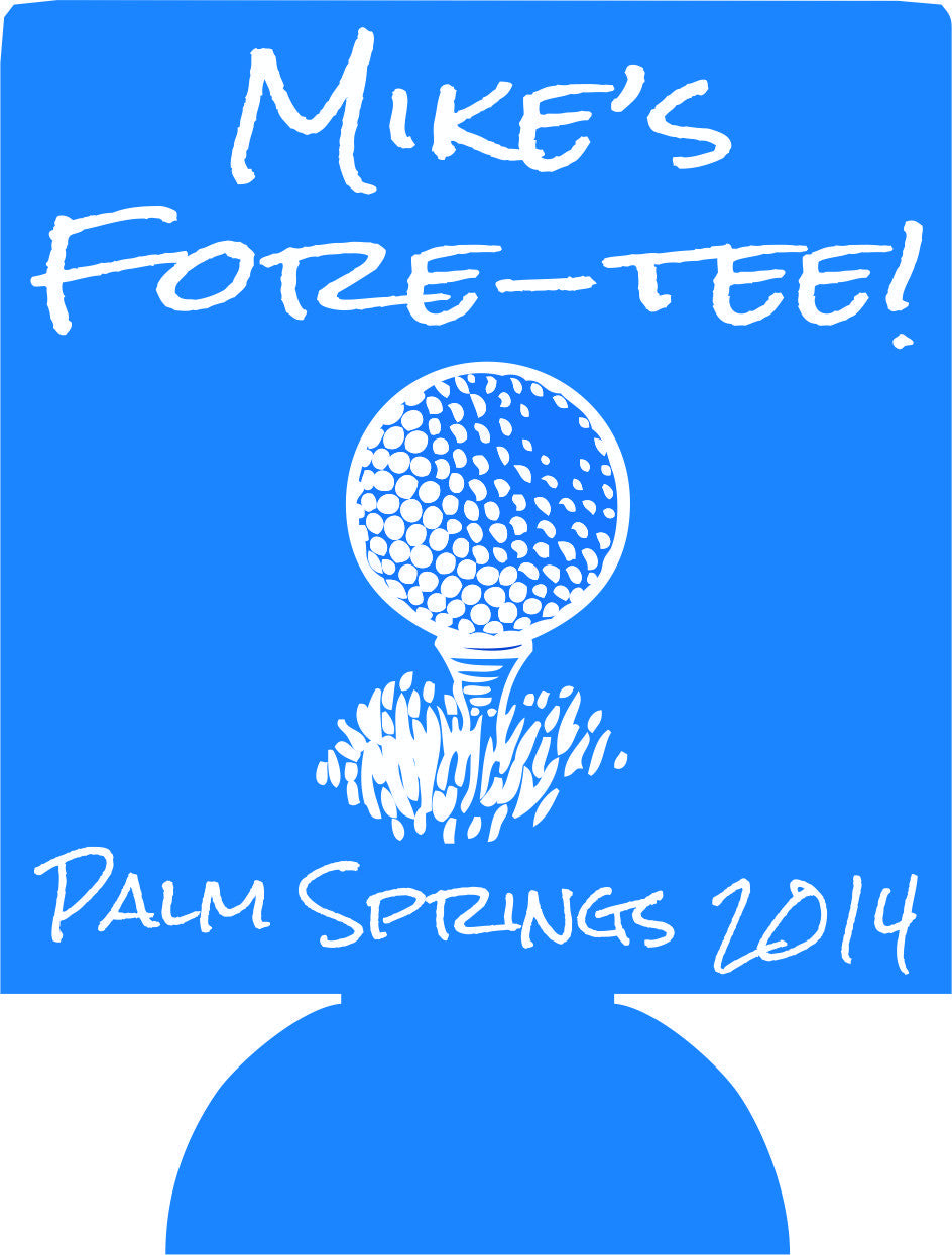 fore tee golf 40th Birthday Koozies party favors can coolers
