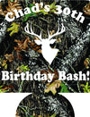 Birthday Bash Koozies Camo deer 30th