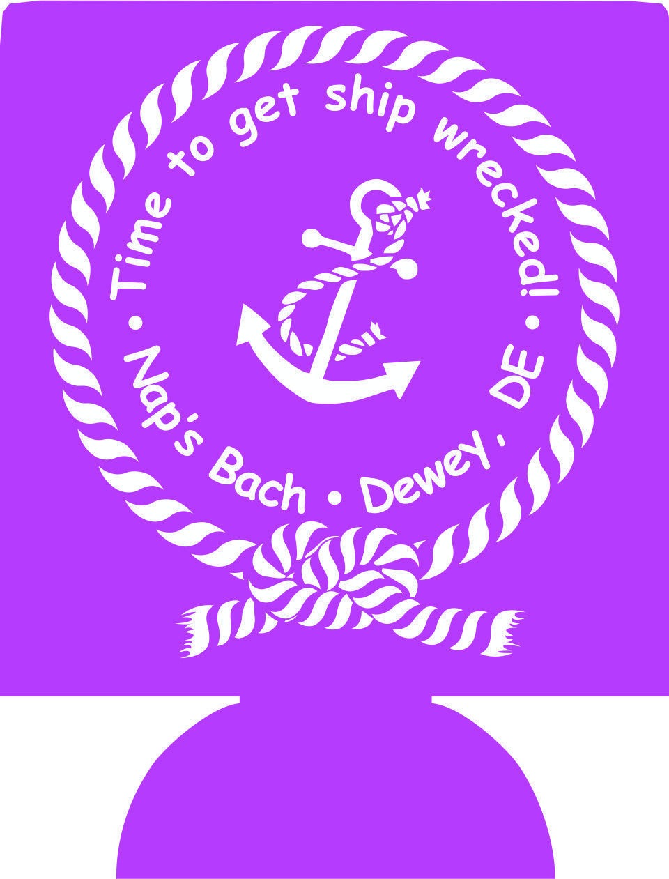 Time to ship wrecked Nautical bachelorette cozy personalized