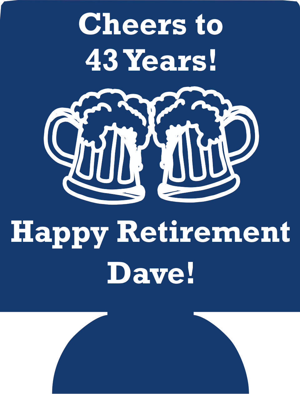 Retirement koozie design idea cheers to party favor decorations