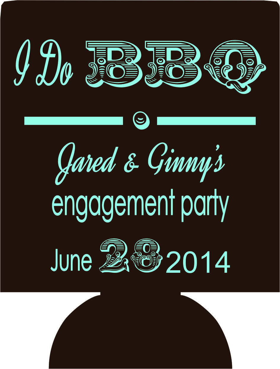 I do BBQ koozies engagement party favors Can Coolers
