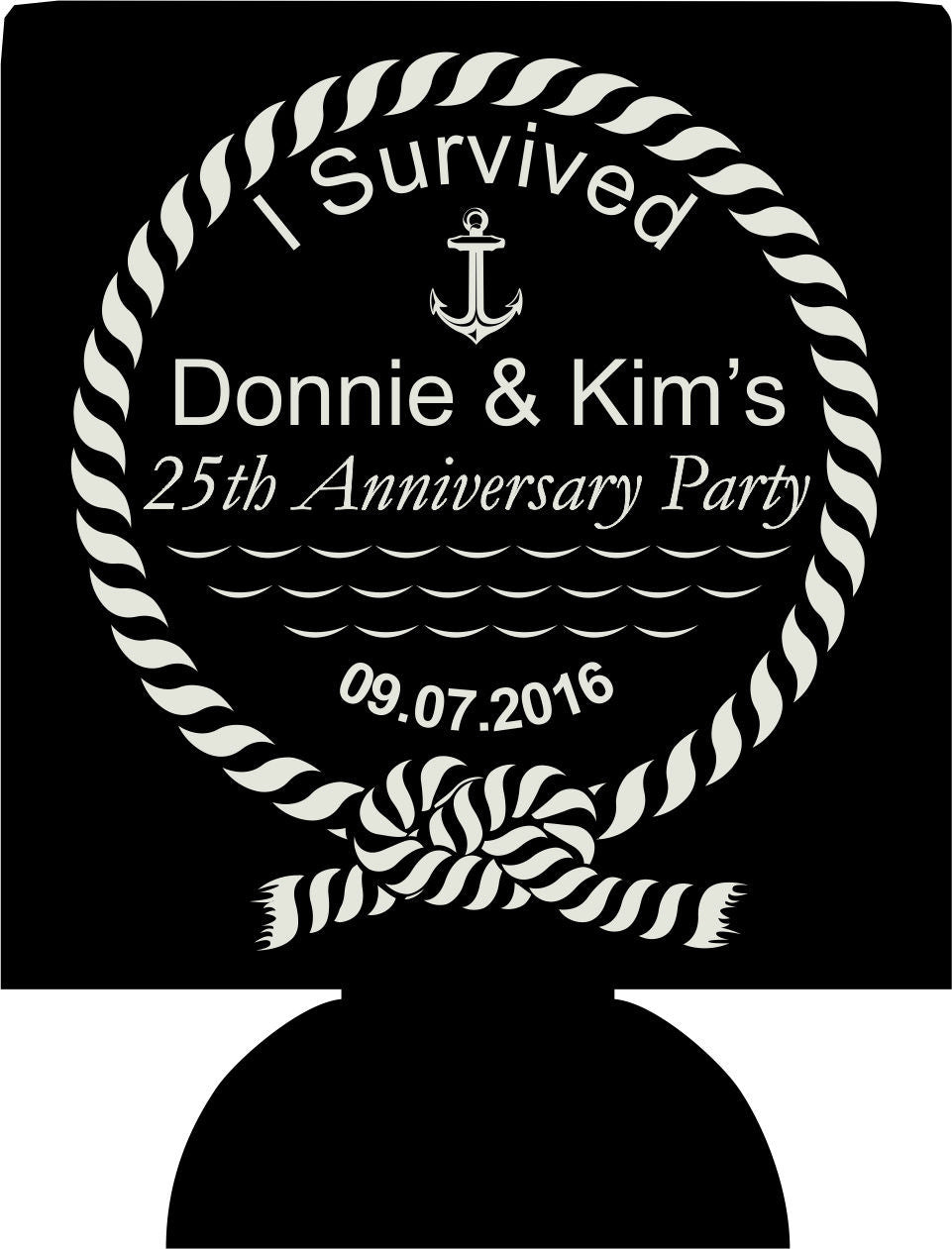 25th Wedding Anniversary Koozies
