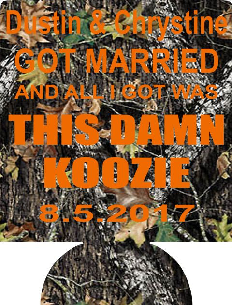 This Damn Koozie wedding party custom can coolers 7406