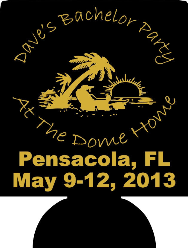 Pensacola Florida Beach Bachelor Party Koozies