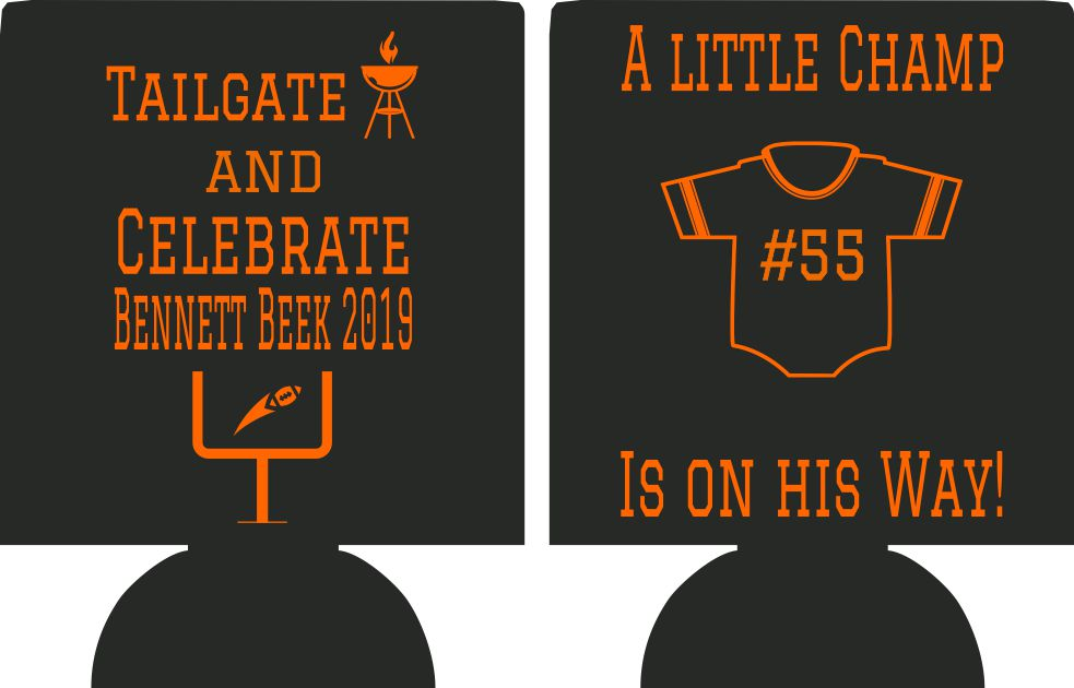 baby shower koozie tailgate and celebrate party favors
