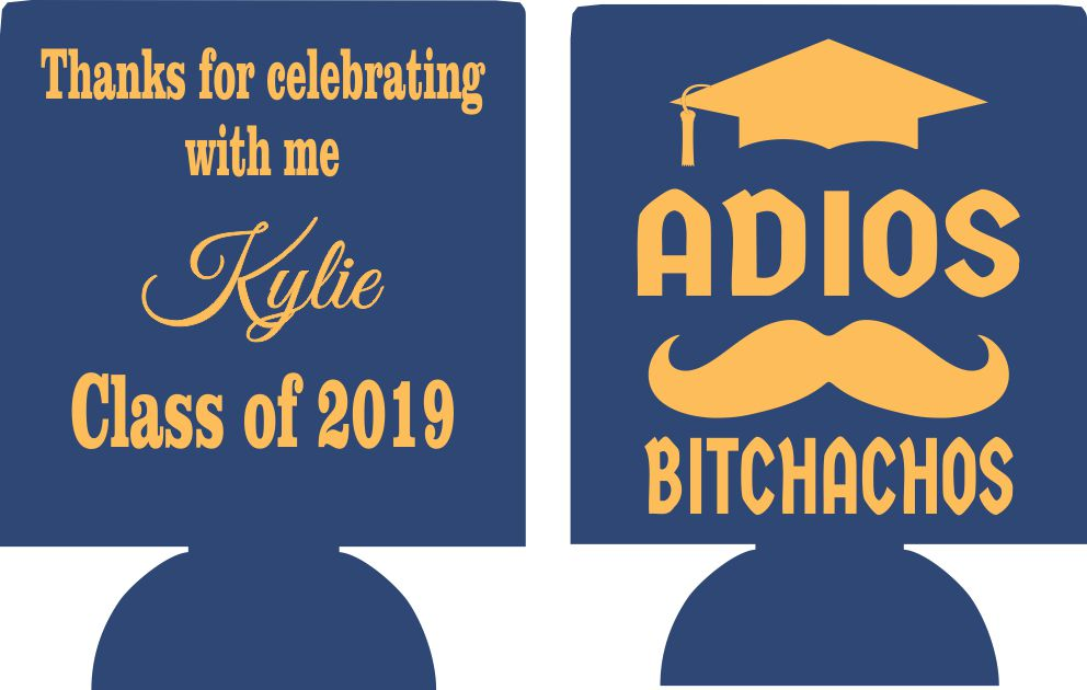 class of 2019 graduation koozies can coolers personalized e05092019