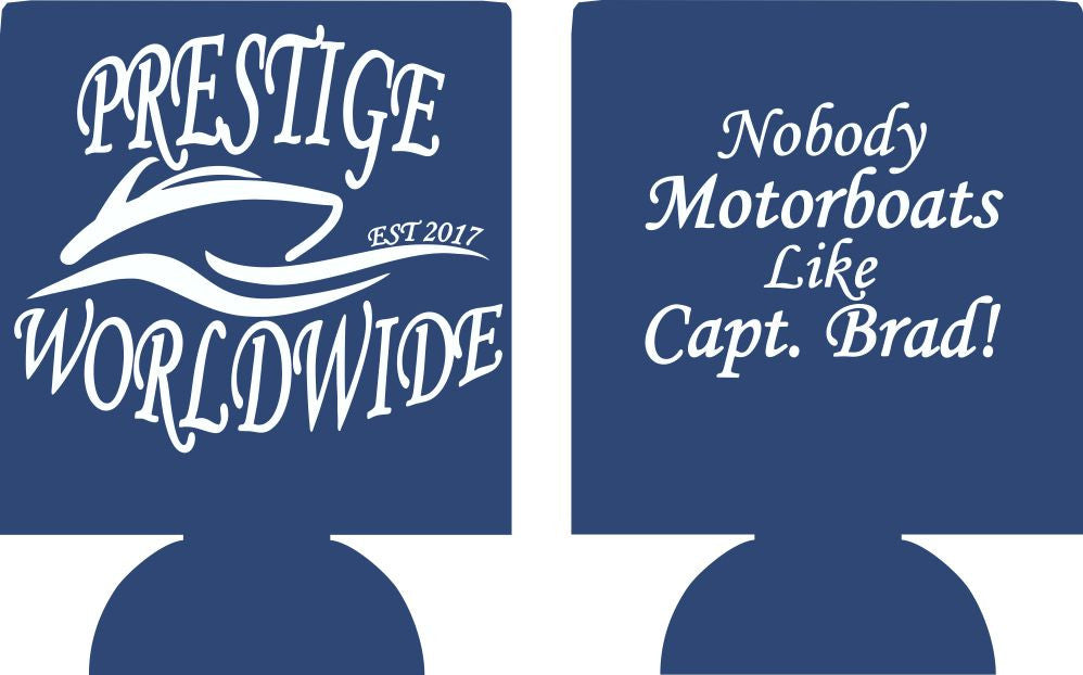 Custom Boat Koozies personalized can coolies