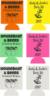 Dirty Thirty Houseboat Birthday koozies party favors can coolers E06282017-3