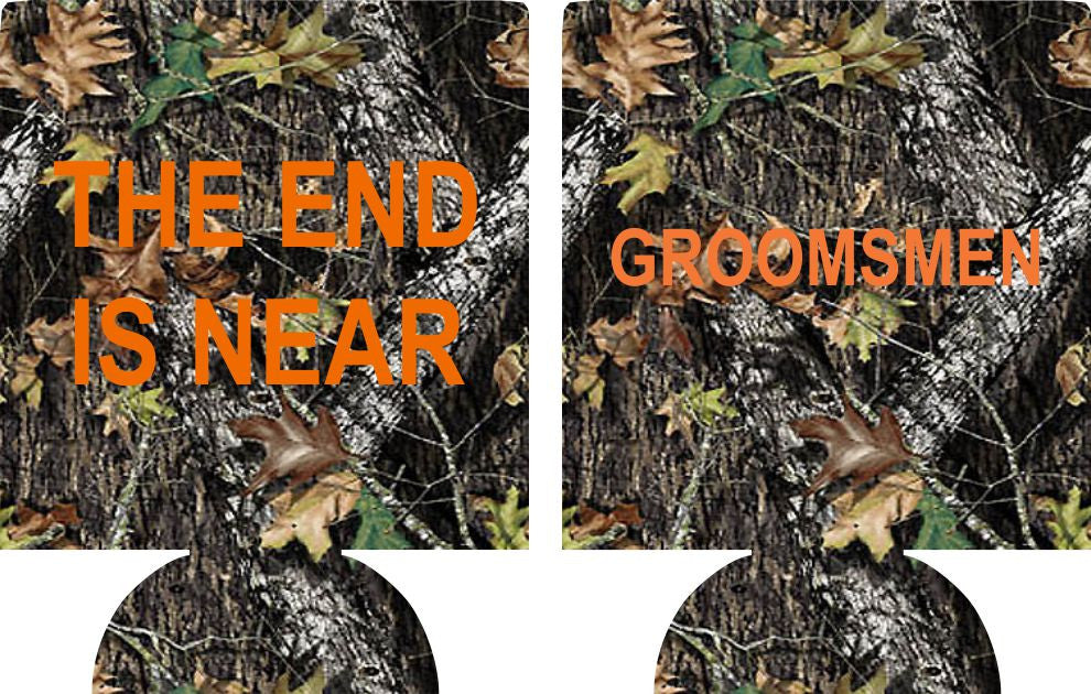 The End is Near koozie Bachelor Party custom favors Can Coolers