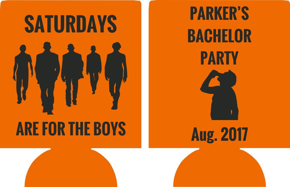 for the boys Bachelor Party koozies custom favors Can Coolers