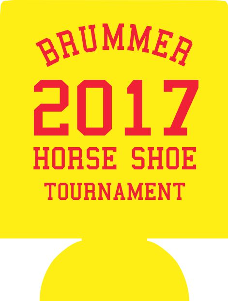 Custom Family reunion koozie horse shoe tournament can coolers e08042017-2