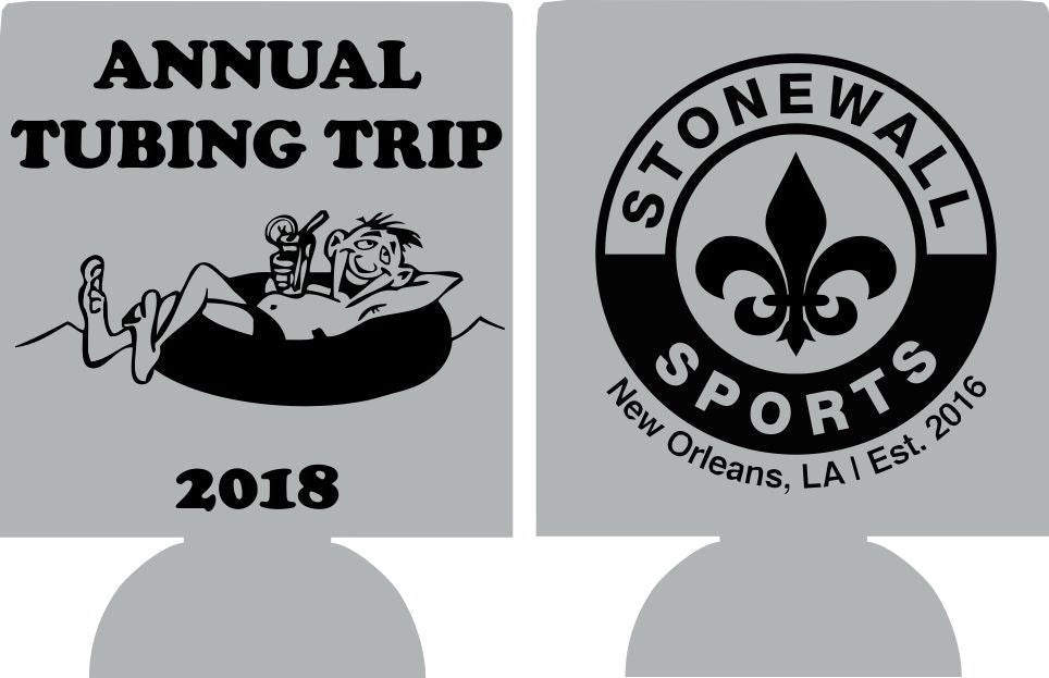 Annual River tubing trip float Koozie custom quick shipping