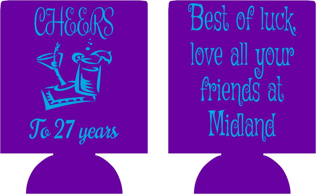 27th Birthday Koozies custom can coolies e08222017