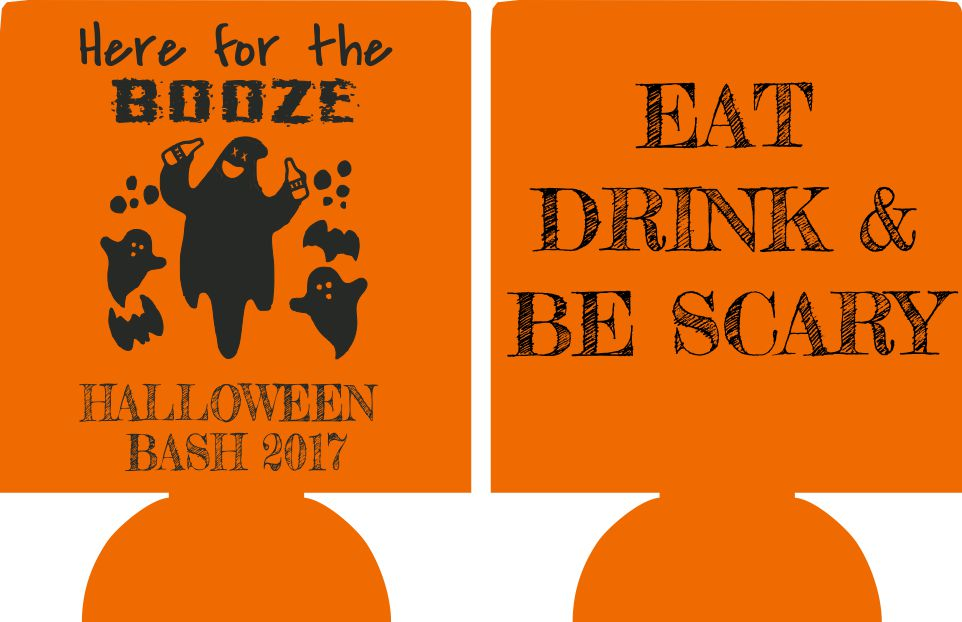Halloween Party Koozies party favors here for the booze can coolers