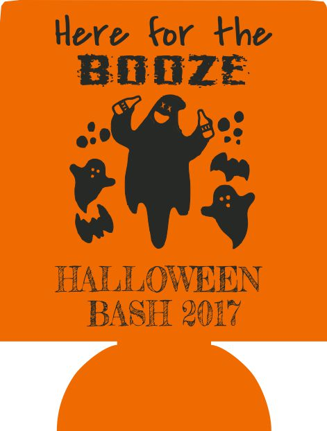 Custom Halloween party koozie favors can coolers