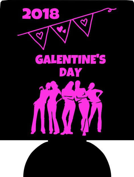 Galentines day bachelorette koozie personalized no minimums