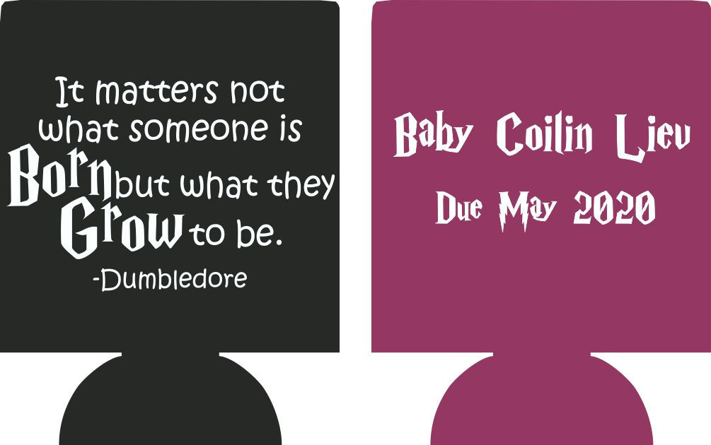 harry potter baby shower party favors Can Coolers 7131 double sided