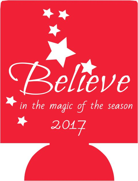 Christmas party decorations Koozies ideas favors believe quotes can coolers