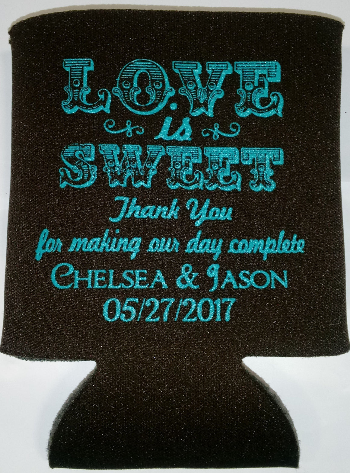 love is sweet Wedding koozies fast party favors Can Coolers