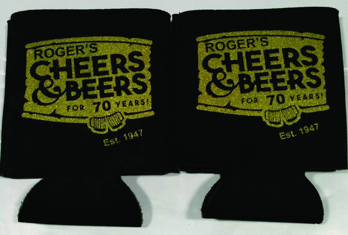 Cheers and Beers 70th birthday Koozie