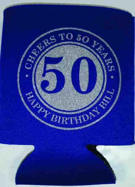 Cheers and Beers 50th Birthday Coozies favors can coolies