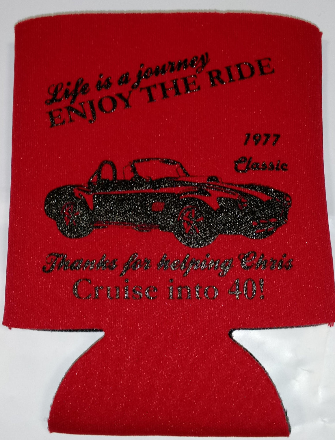 Old Classic Car 50th Birthday Party koozies