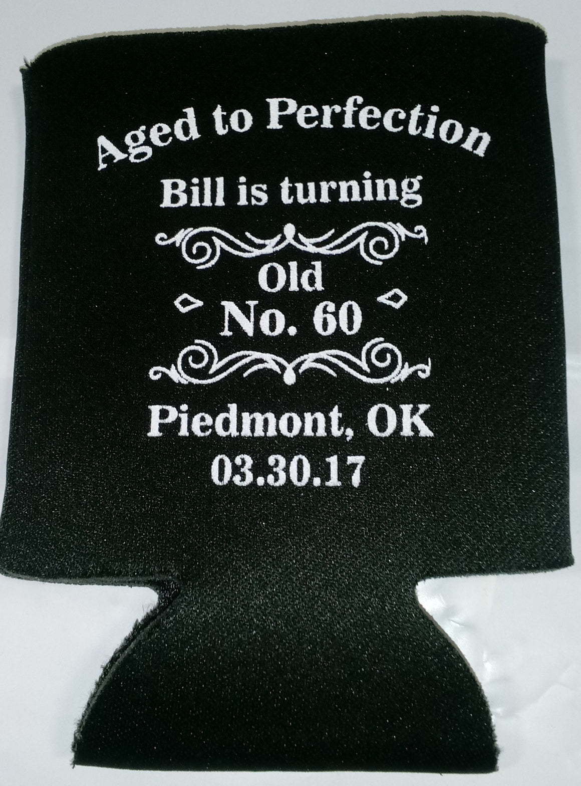 Aged to Perfection 60th Birthday party coozies