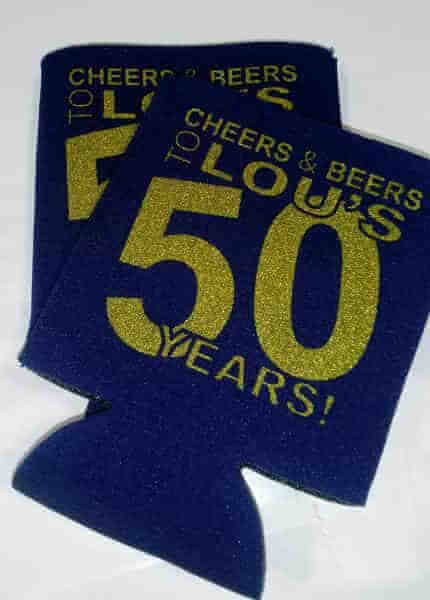 Cheers and Beers 50th Birthday Koozies