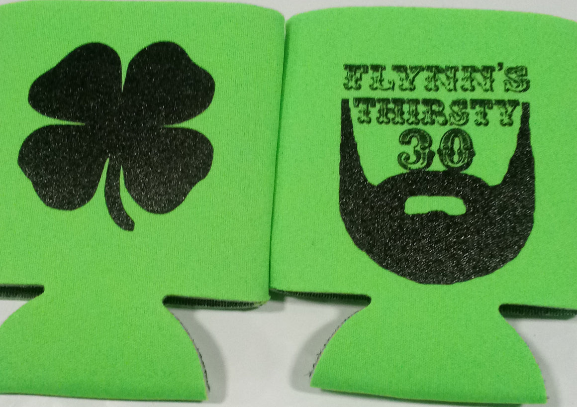 Beard 30th Birthday koozies st patricks day Thirsty 30