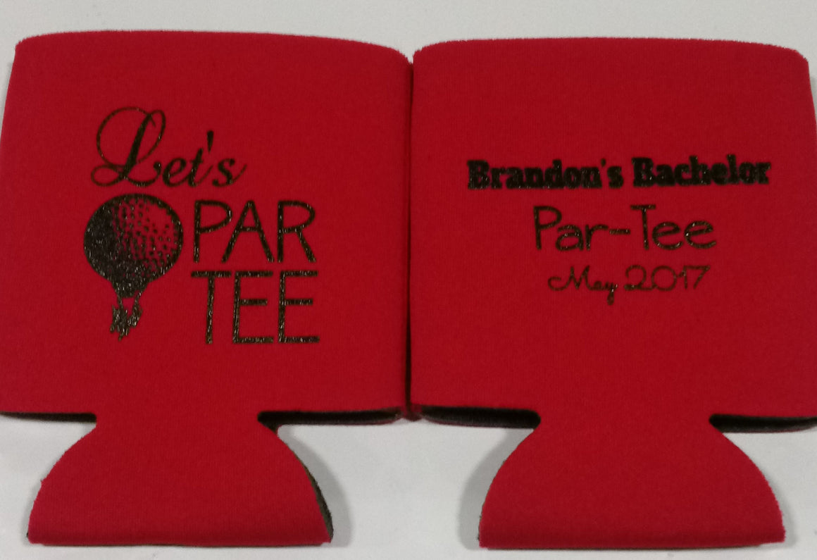 Let's PAR TEE Golf Bachelor koozie