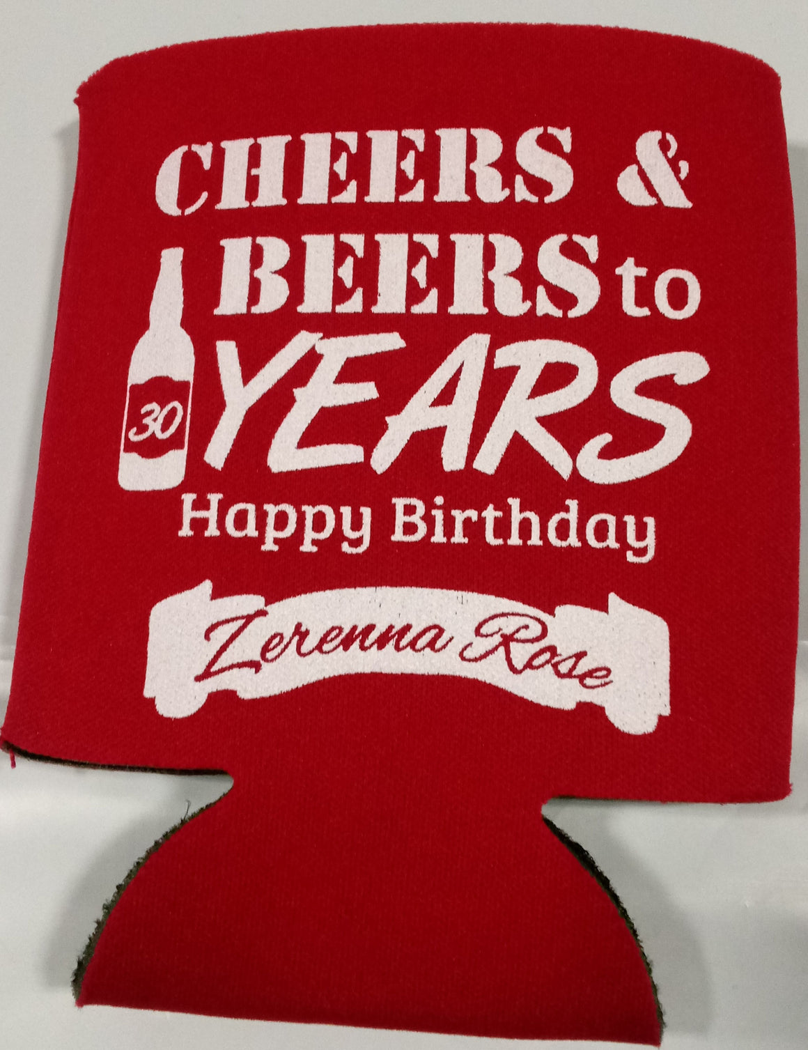 Cheers and Beers 30th Birthday party favors can coolers