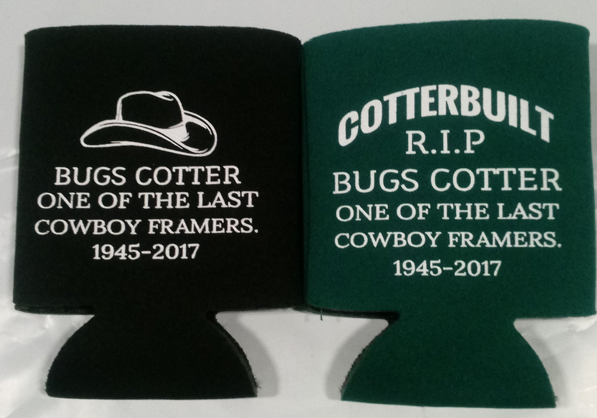 custom In memory of  koozie personalized can coolers