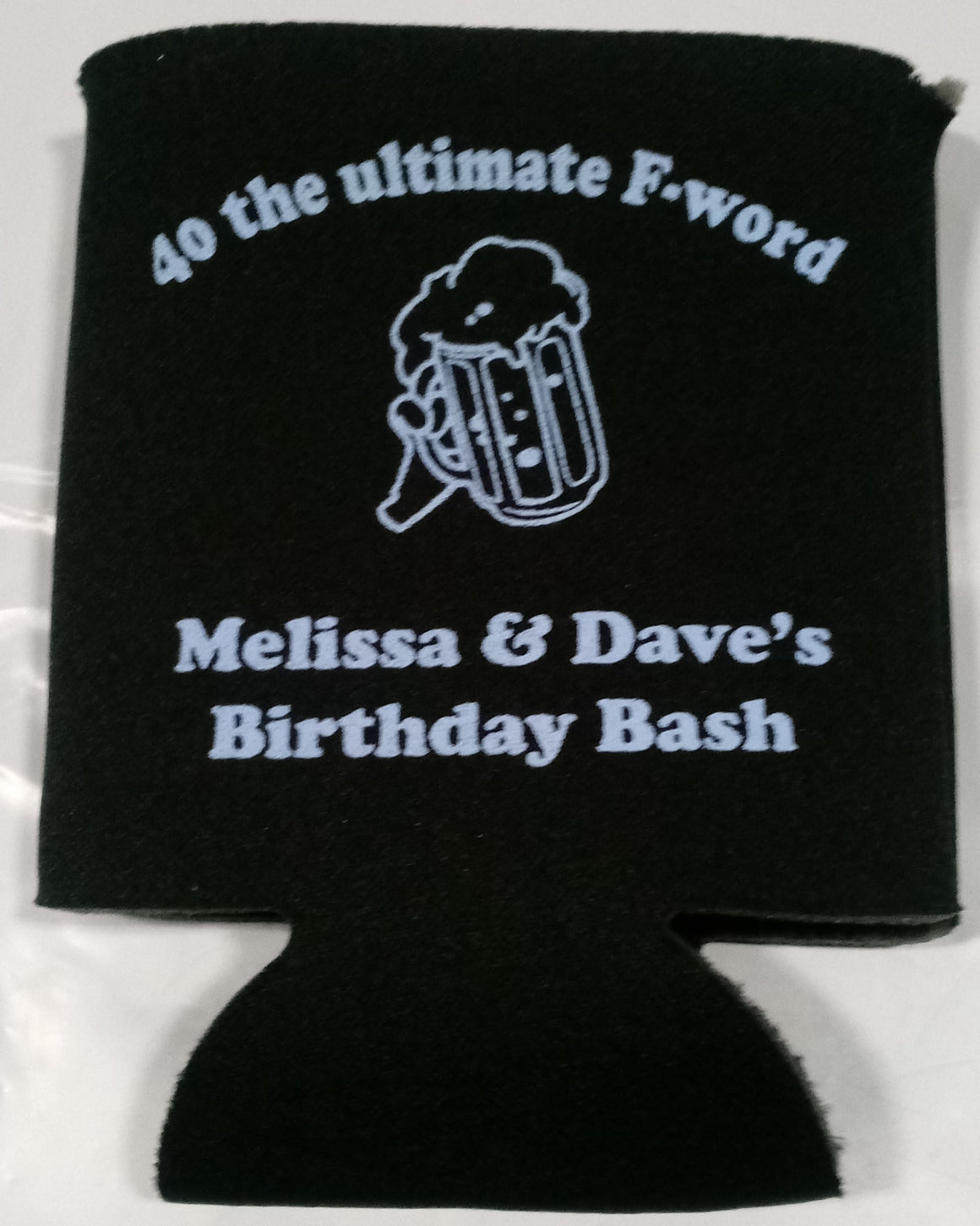 40th Birthday party the ultimate F word coozies funny can coolers