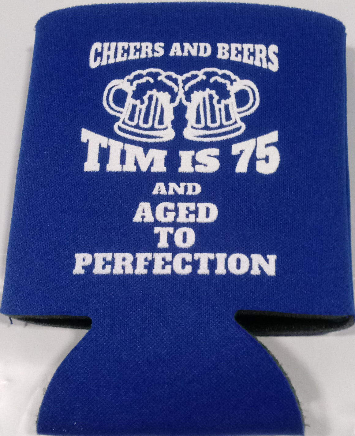 Aged to Perfection 75th Birthday Koozie Cheers and beers