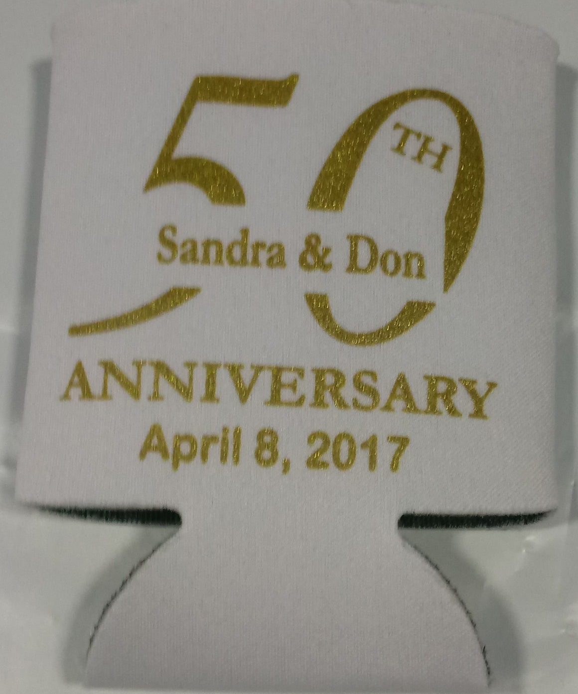 50th Wedding Koozies Anniversary Can Coolers