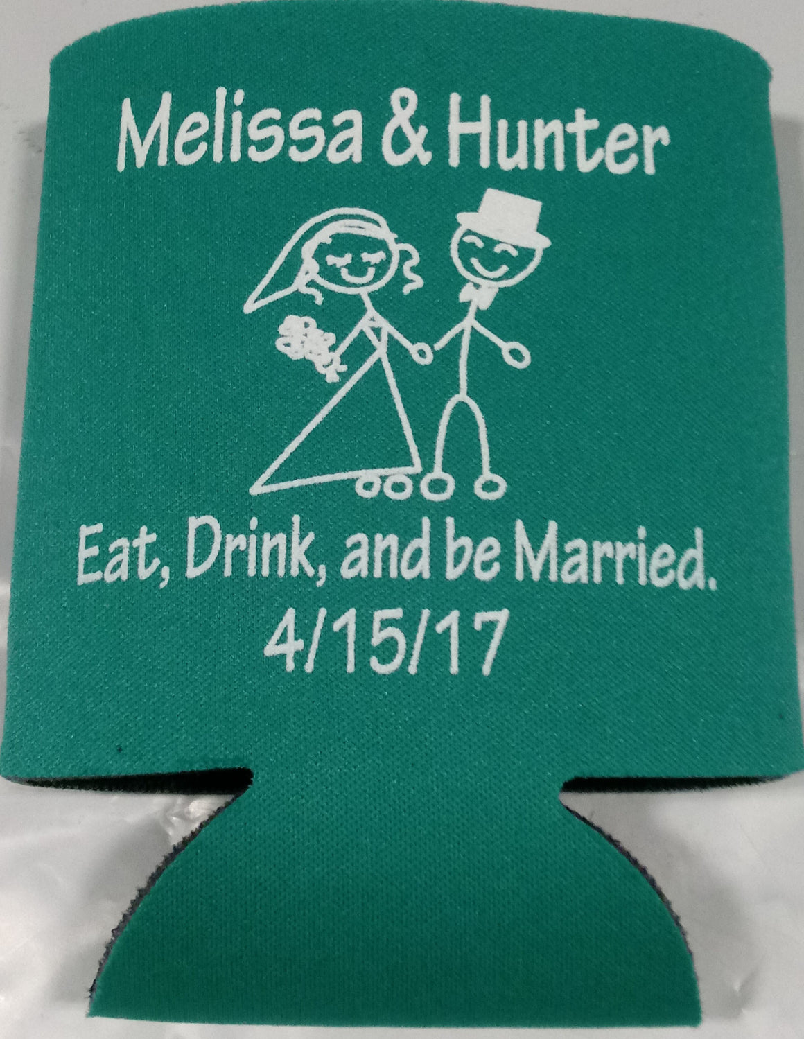Eat Drink and Be Married Wedding koozies party favors Can Coolers