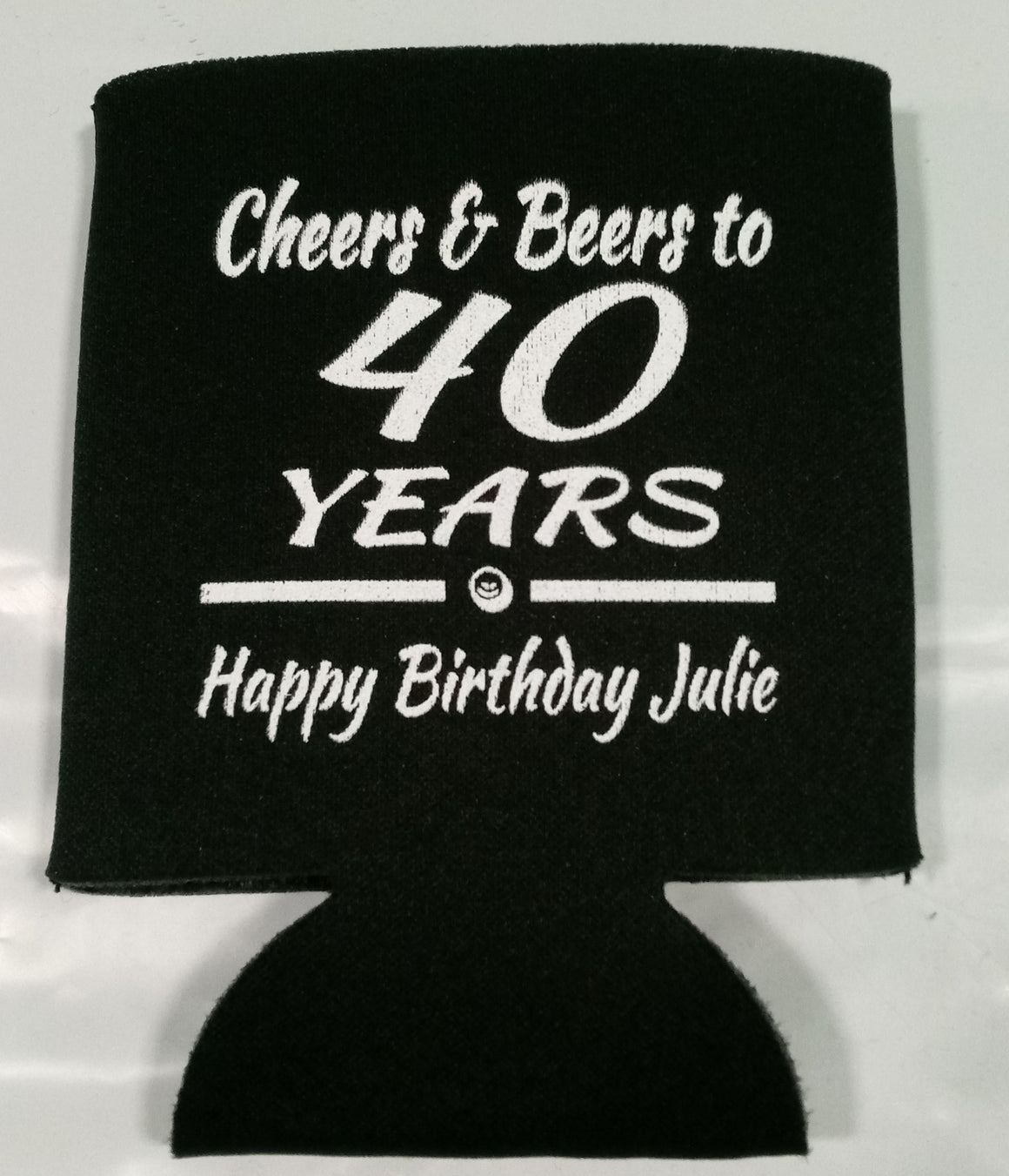 Cheers and Beers 40th Birthday party funny favors can coolers