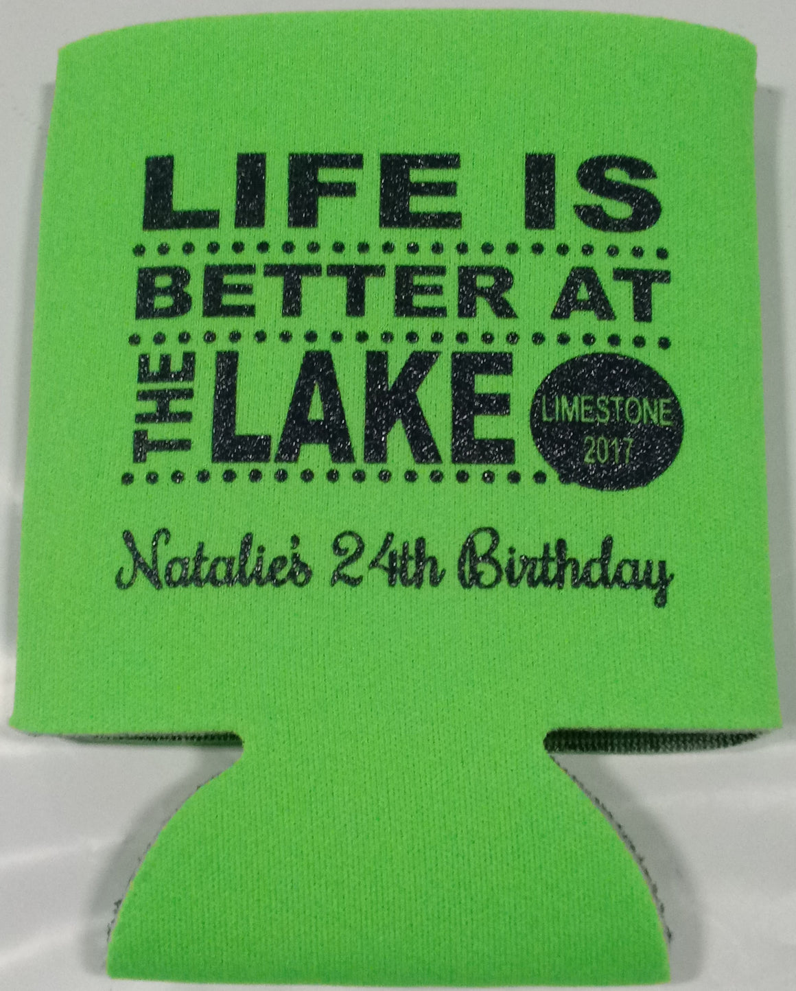 Lake Birthday party favors can coolers