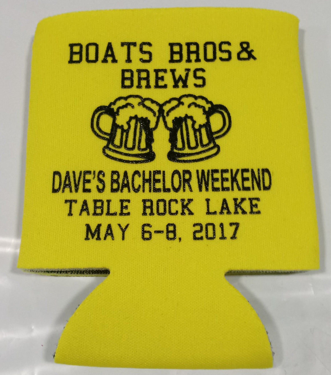 Lake Bachelor party Koozie custom favors Can Coolers