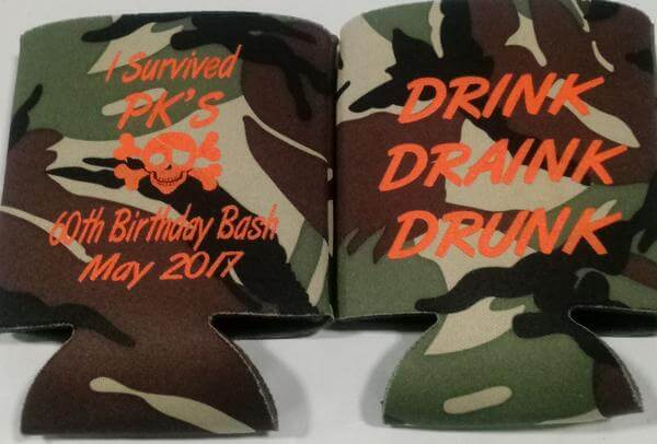 I survived Drink Drank Drunk 60th birthday can coolers