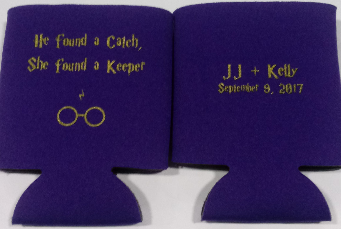 Harry Potter Custom Wedding koozie