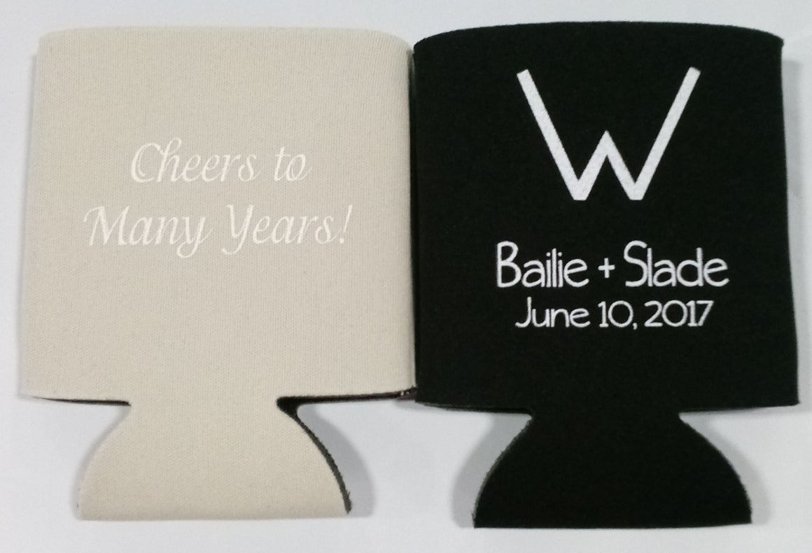 cheers to many years Wedding koozies fast custom favors Can Coolers 1122388879