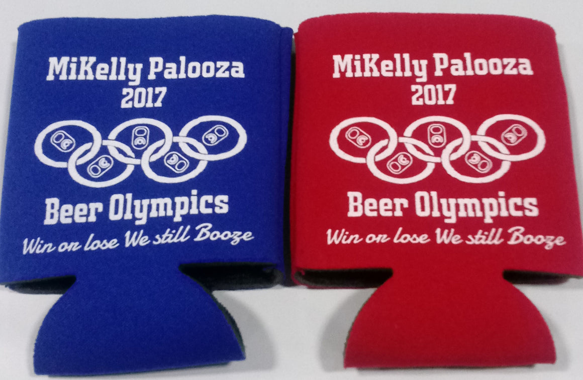 Beer Olympics Birthday Koozies win or lose we still boozie can coolers